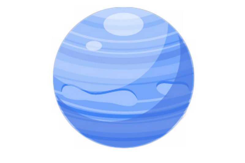 一颗蓝色的星球卡通天文插画3696142png免抠图片素材