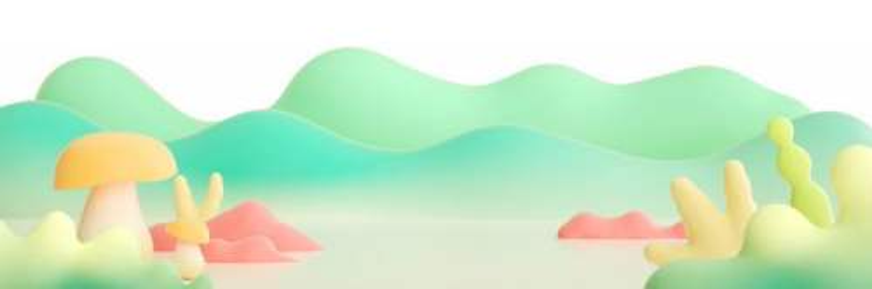 漂亮的3D剪纸叠加风格的青山绿水风景9382898png免抠图片素材