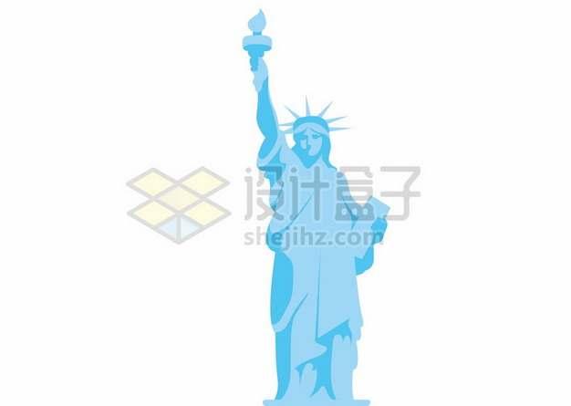 扁平化风格的自由女神像5169777矢量图片免抠素材