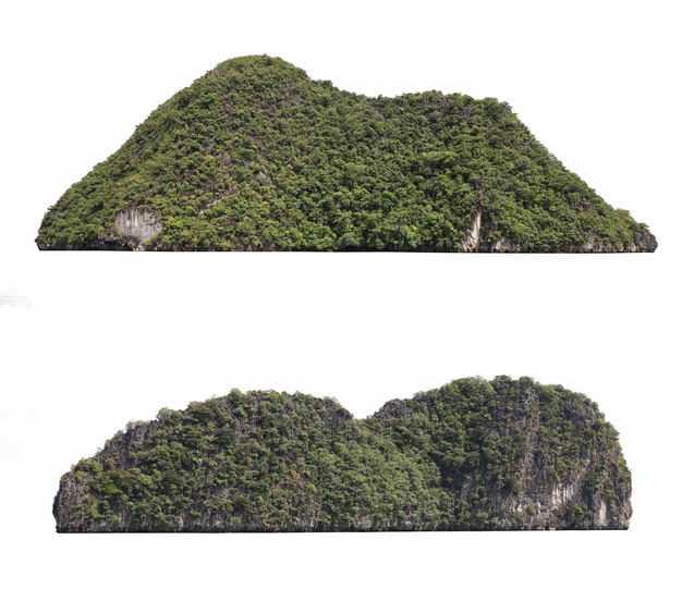两座海岛小山风景图7831576免抠图片素材