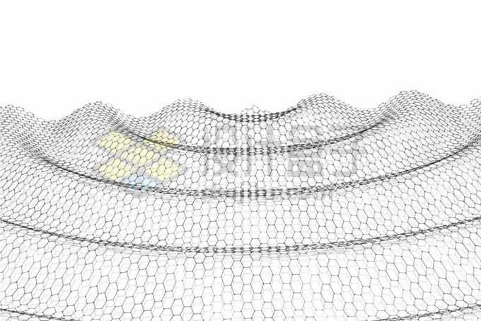 由六边形组成的涟漪波浪二维结构3873009矢量图片免抠素材