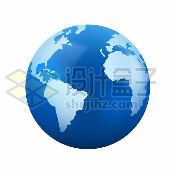 蓝色的地球模型定位在大西洋和南美洲非洲上2383057矢量图片免抠素材