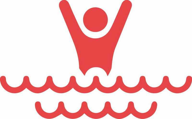 红色线条小人儿防溺水安全教育插画8265289png免抠图片素材