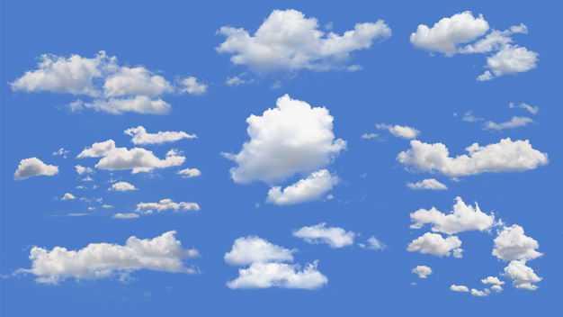 各种各样的真实云朵白云积云卷云8339284免抠图片素材