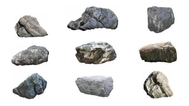9款石头园林石景观石观赏石头假山石天然石头2822508免抠图片素材