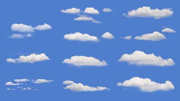 11款款真实的云朵白云积云卷云9960850免抠图片素材