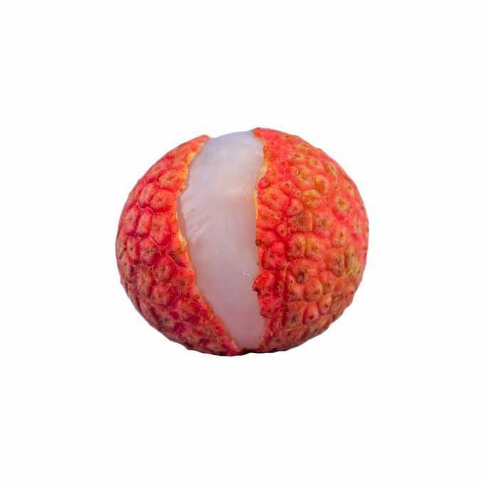 一颗剥开外壳的荔枝美味水果9308517png免抠图片素材