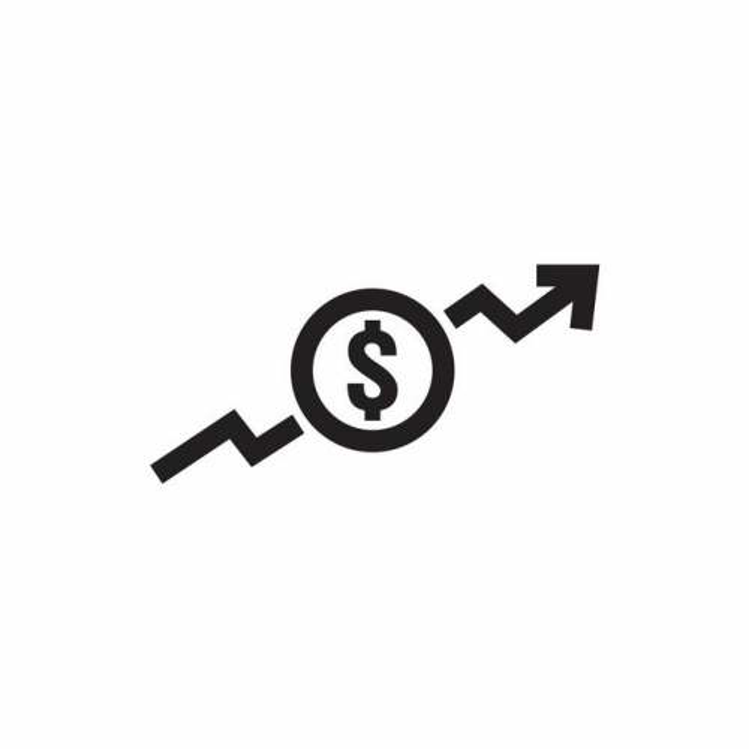 美元符号上升箭头象征了业务成本金额上升2538758矢量图片免抠素材