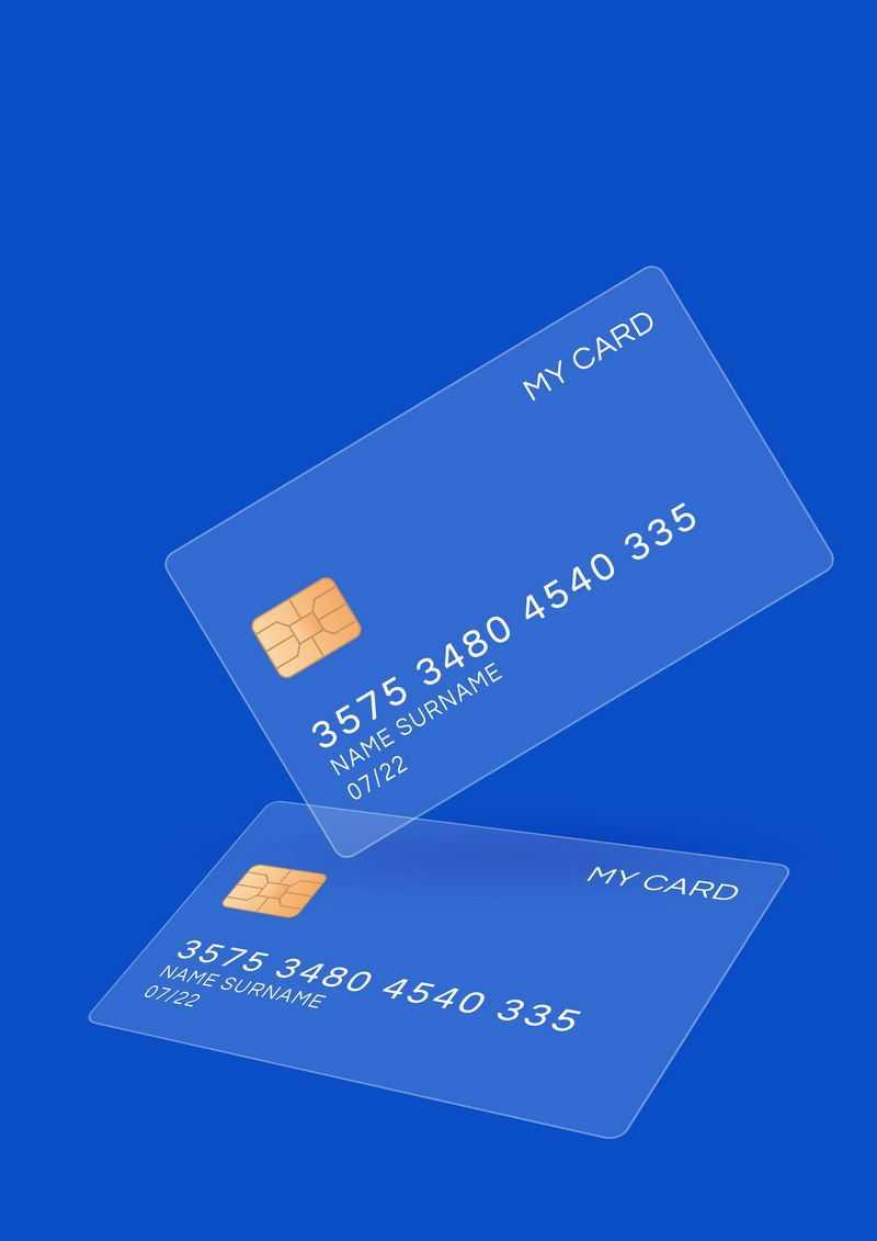 两张毛玻璃半透明效果银行卡7499742免抠图片素材