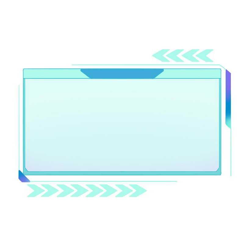 蓝色紫色科技风格信息框文本框1210022免抠图片素材