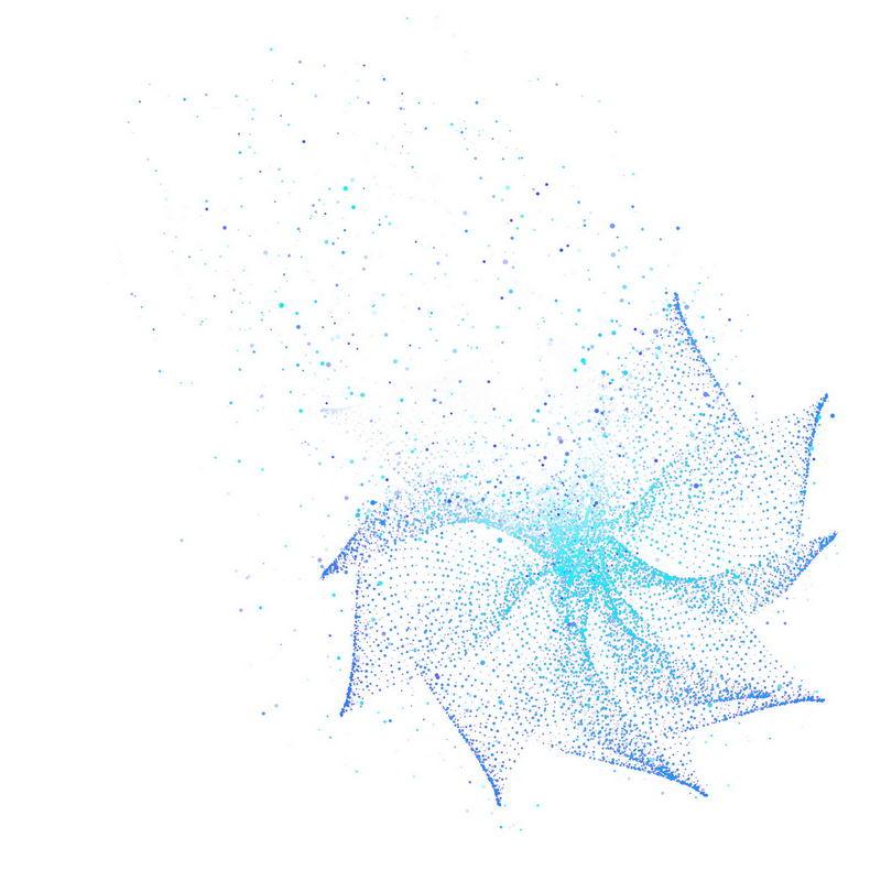 蓝色螺旋光点发光效果抽象图案6894658免抠图片素材 效果元素-第1张