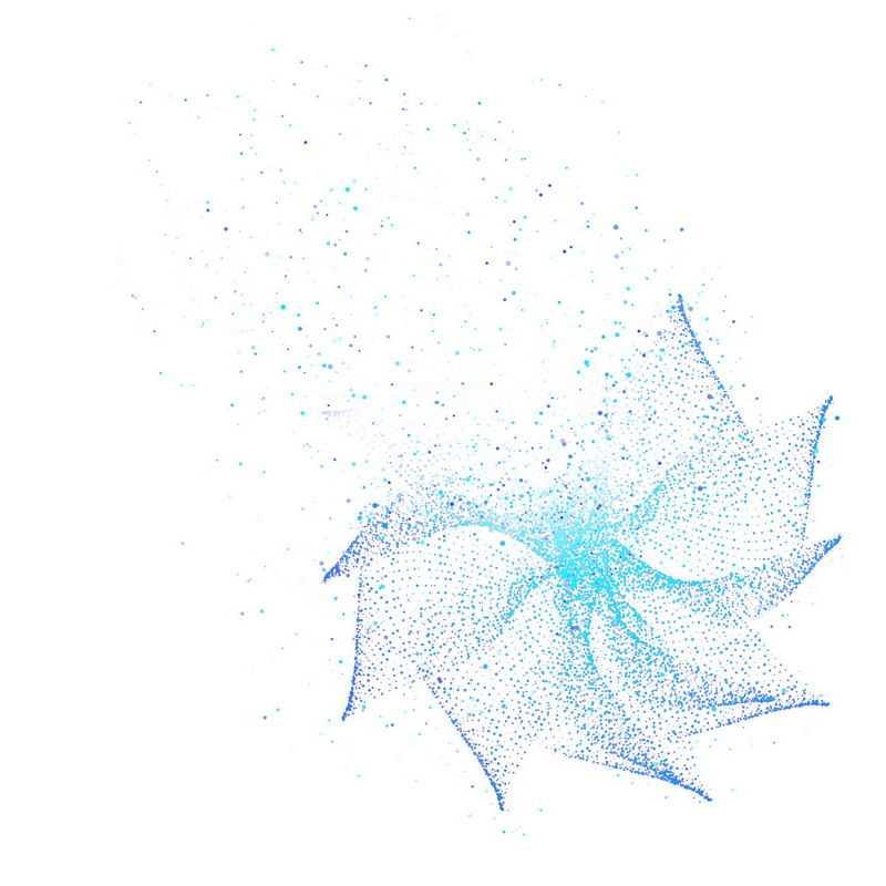 蓝色螺旋光点发光效果抽象图案6894658免抠图片素材