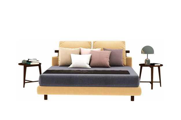 一张大床和两个床头柜卧室装修家具1179022免抠图片素材