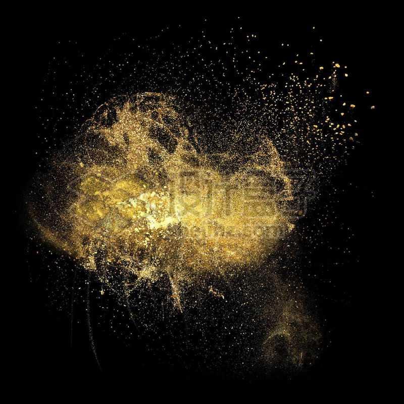 金黄色粒子粉尘飞舞效果8851921免抠图片素材