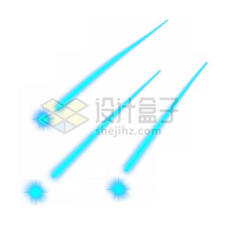 蓝色发光效果高科技风格流星2949872免抠图片素材