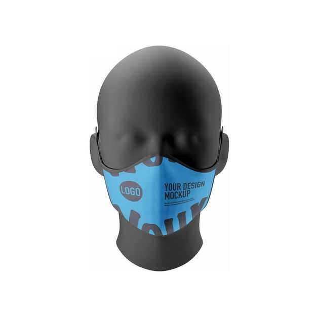 黑色塑料模特头部戴着口罩样机1784534图片素材