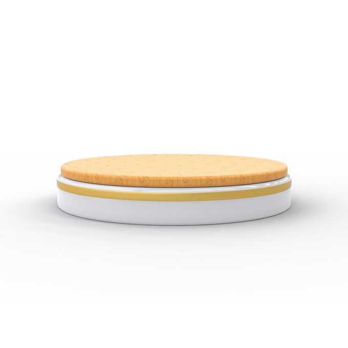 3D立体白色黄色底座和圆形木板舞台展台7988773矢量图片免抠素材