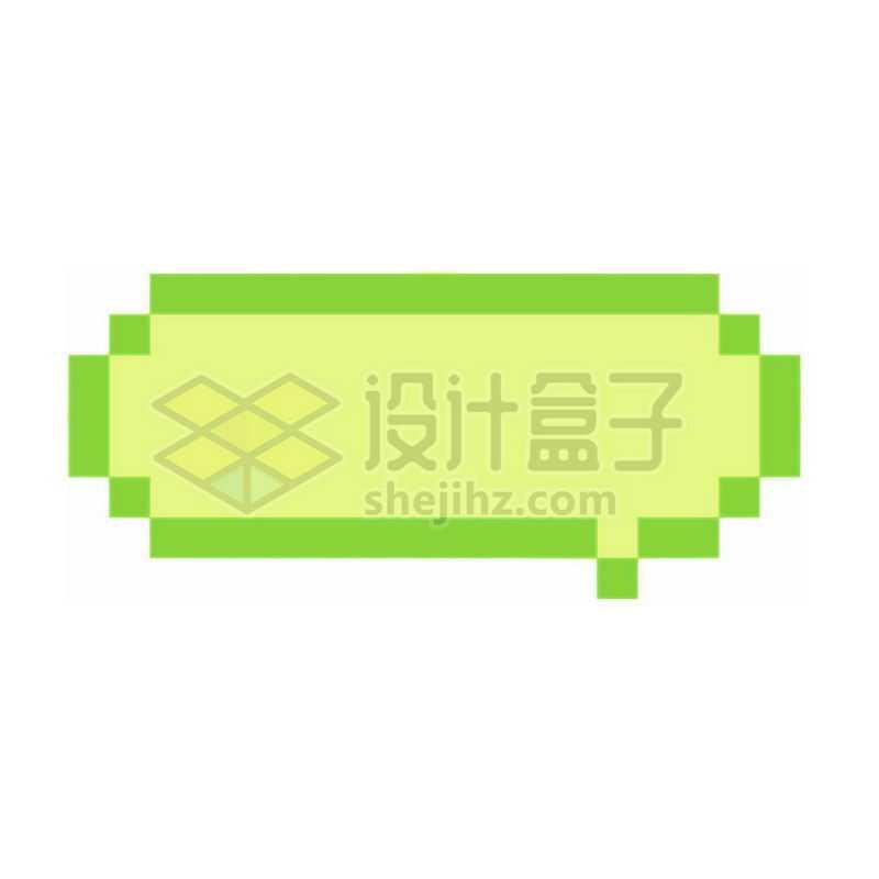 绿色的像素风格对话框2870120免抠图片素材