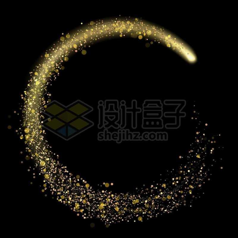 圆形黄色光斑金色粒子抽象光效果1968055免抠图片素材