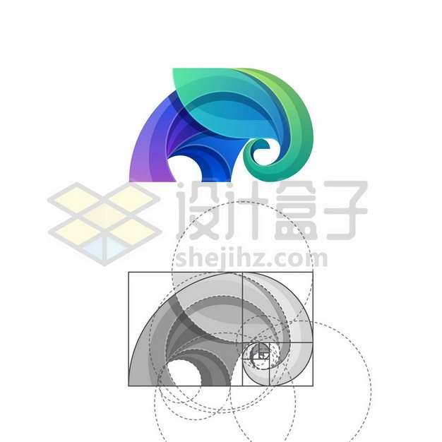 运用黄金比例黄金分割点设计的大象logo4296552矢量图片免抠素材