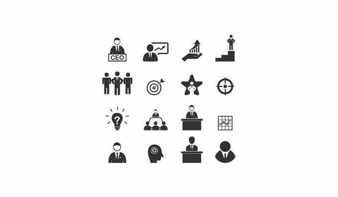 16款企业公司组织架构ico图标9404746矢量图片免抠素材