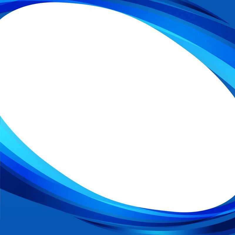 蓝色曲线科技风格边框5621353矢量图片免抠素材
