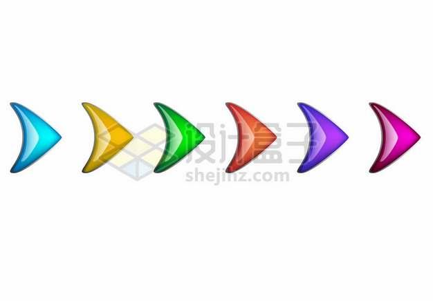 水晶风格的鱼尾箭头装饰3471057矢量图片免抠素材