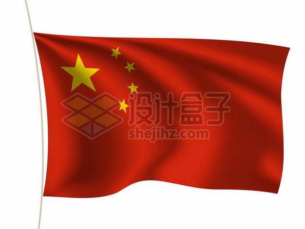 随风飘扬的中国国旗五星红旗3073388矢量图片免抠素材