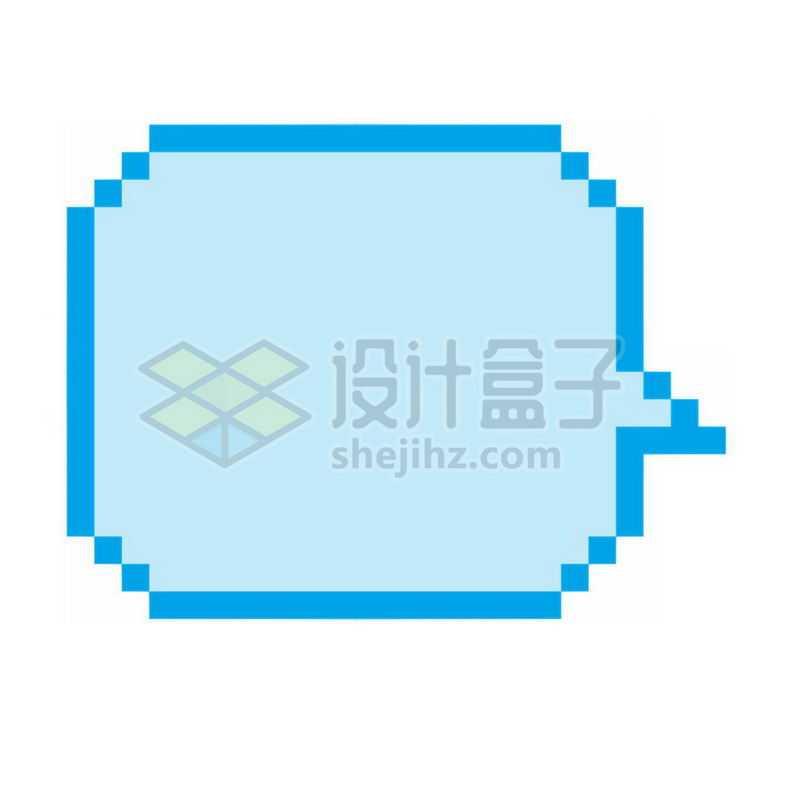 蓝色的像素风格对话框7309853免抠图片素材