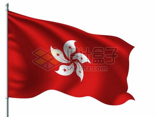 旗杆上飘扬的香港特别行政区区旗5367325矢量图片免抠素材