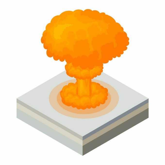 2.5D风格原子弹爆炸产生的蘑菇云5067597矢量图片免抠素材
