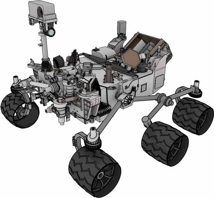 毅力号火星车美国火星探测车彩色插画2437985png免抠图片素材