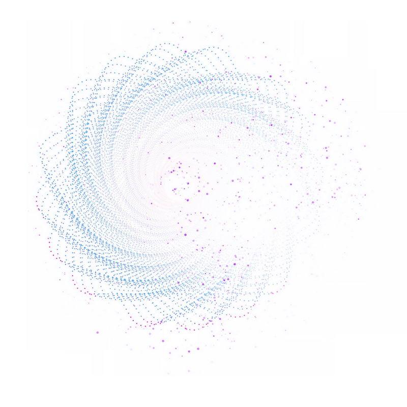 彩色螺旋光点发光效果抽象图案8739298免抠图片素材 效果元素-第1张