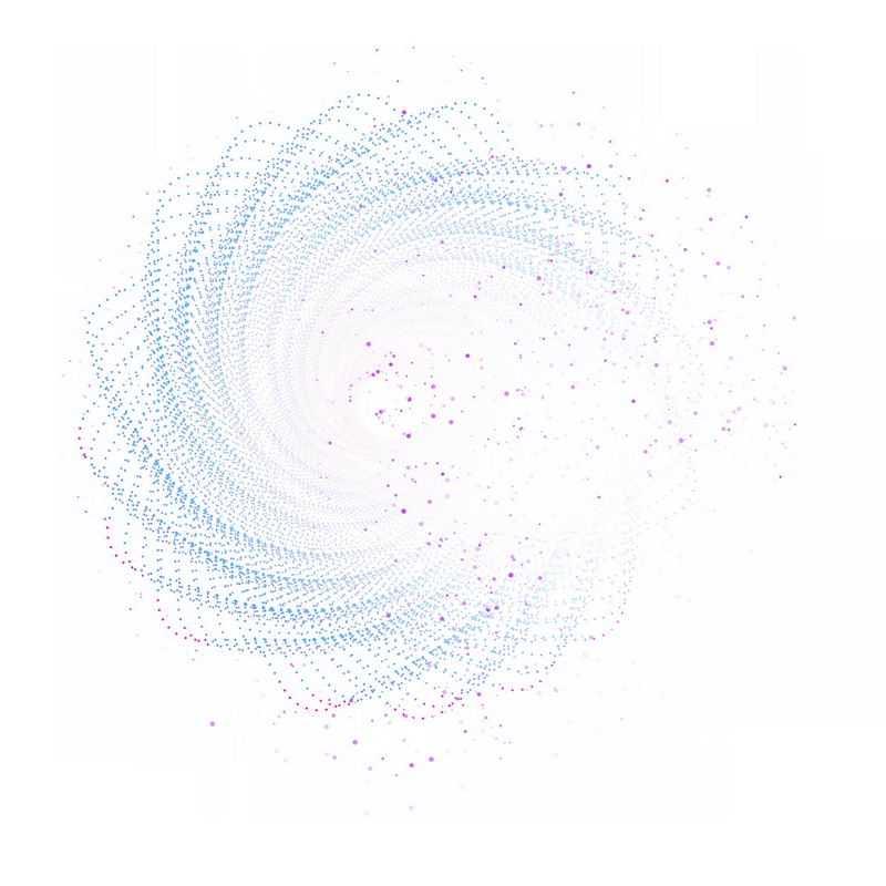 彩色螺旋光点发光效果抽象图案8739298免抠图片素材
