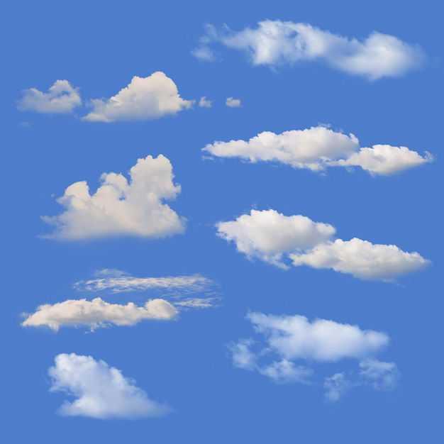 8款真实的云朵白云卷云7170139免抠图片素材