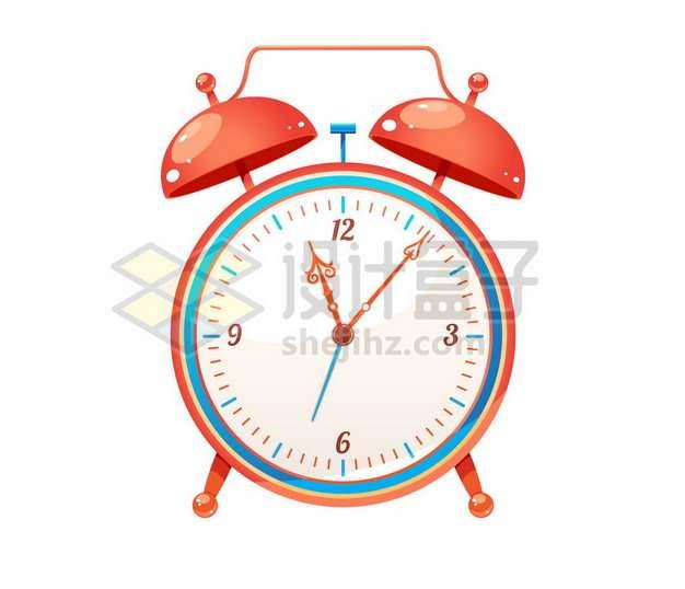 一个红色的闹钟时钟6820536矢量图片免抠素材