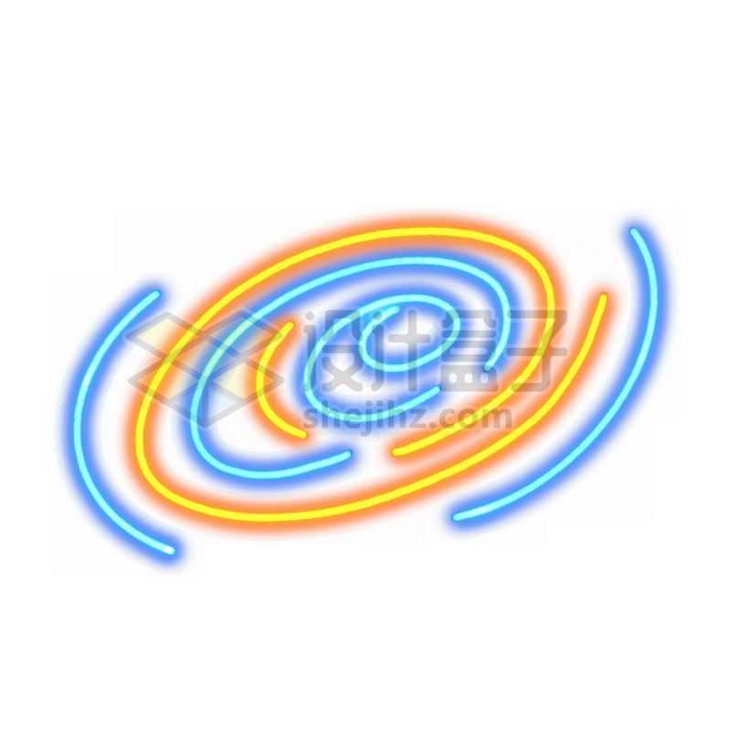 霓虹灯风格发光线条星系3013169免抠图片素材