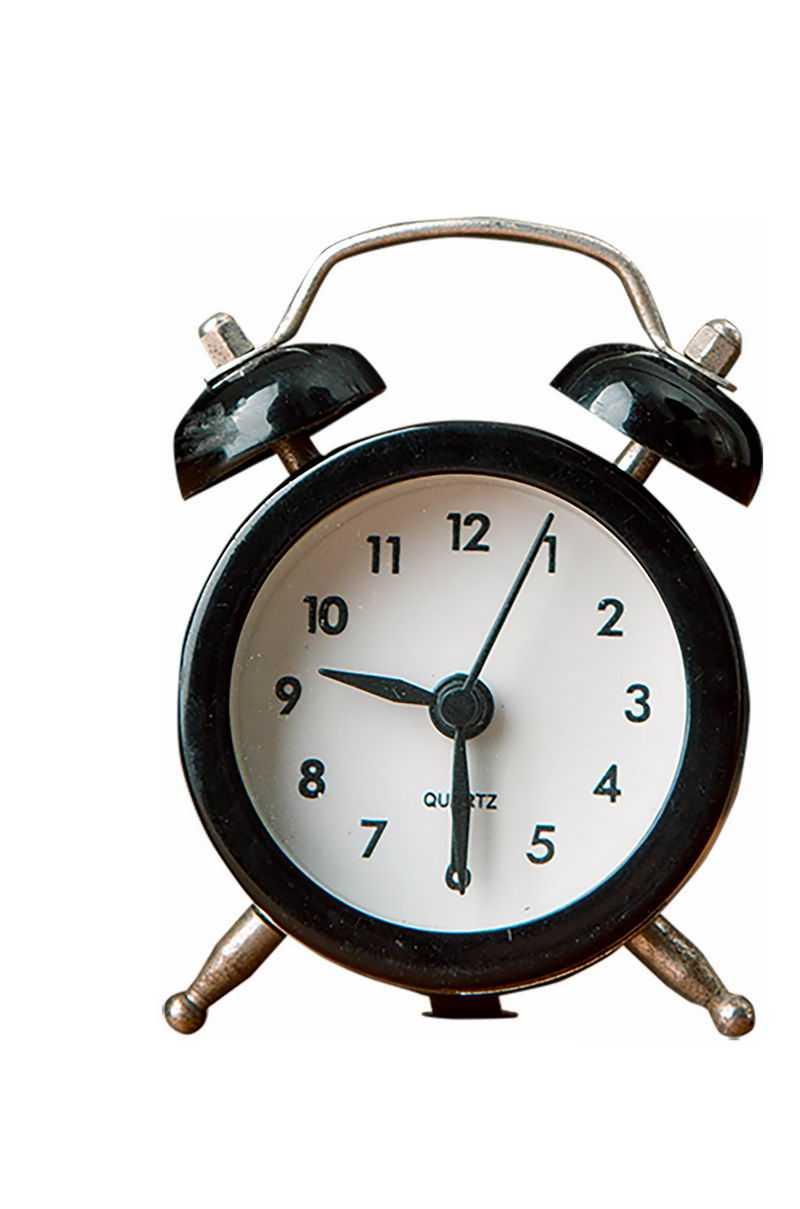 一个黑色边框的闹钟学生时钟3097654png免抠图片素材