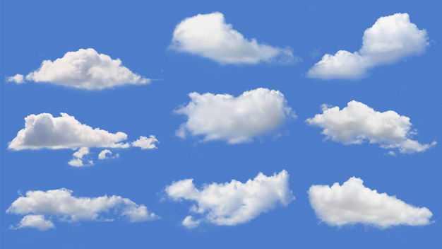 9款真实的云朵白云积云卷云5375248免抠图片素材