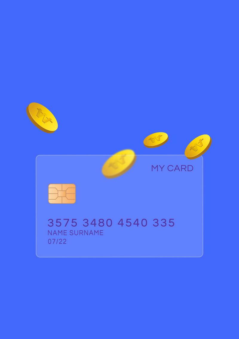 毛玻璃半透明效果银行卡和金币4728463免抠图片素材 金融理财-第1张