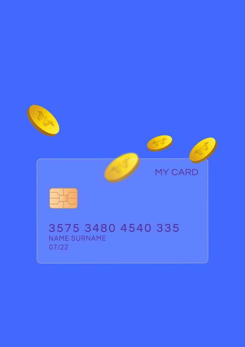 毛玻璃半透明效果银行卡和金币4728463免抠图片素材
