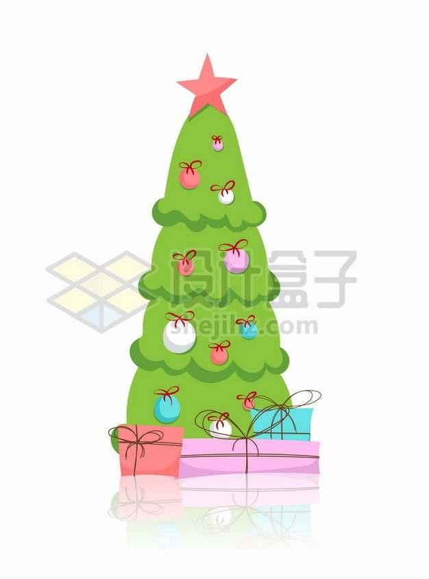 手绘风格的卡通圣诞树7115367矢量图片免抠素材