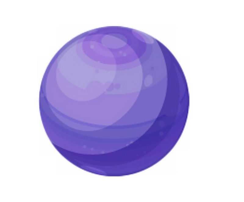 一颗紫色的星球卡通天文插画5153296png免抠图片素材
