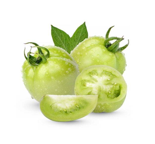 切开的青西红柿绿番茄美味蔬菜9489815免抠图片素材