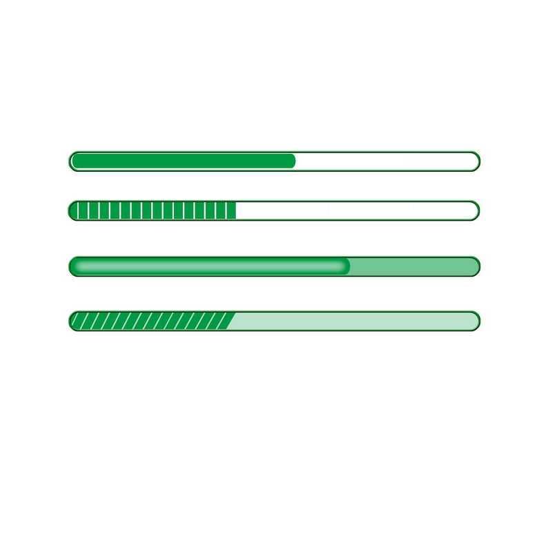 4款绿色的圆角进度条4227804免抠图片素材