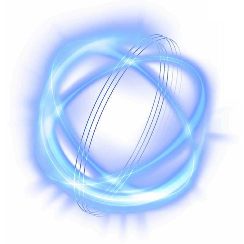 蓝色光芒光晕光圈发光抽象光球效果4972936免抠图片素材