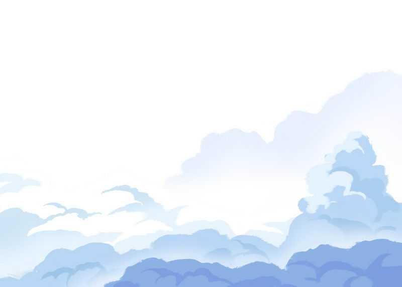 漫画风格卡通紫色蓝色云朵云彩烟雾效果2319831免抠图片素材