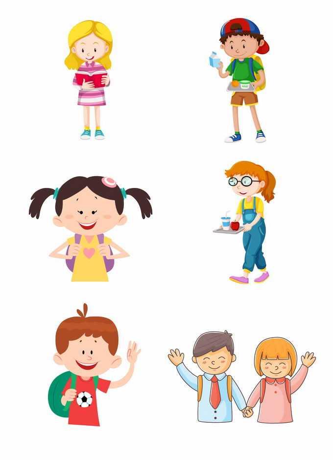 6款卡通小朋友儿童节快乐插画7297773矢量图片免抠素材