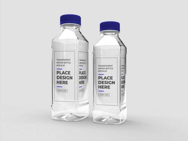 2瓶矿泉水纯净水饮用水塑料瓶样机5563823图片素材