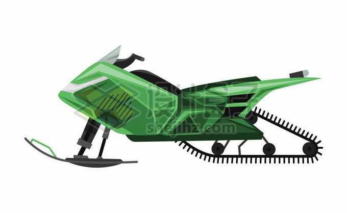 绿色的雪地摩托车侧面图8865676矢量图片免抠素材